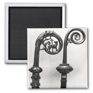 Crozier of the Abbots of Clairvaux Square Magnet