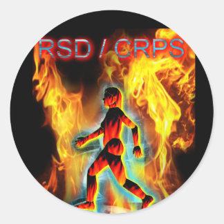 CRPS Blazing Figure in Ice Classic Round Sticker