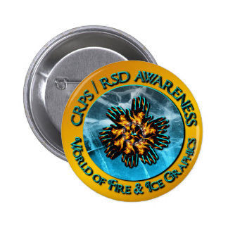 CRPS RSD Awareness World of Fire Ice Graphics Lo Pins