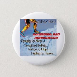 CRPS RSD Leg 6 Cm Round Badge
