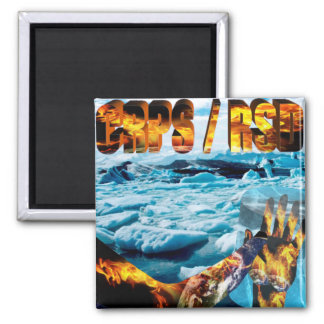 CRPS/RSD My World's ablaze Square Magnet