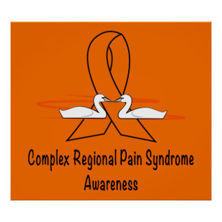 CRPS/RSD Swans of Hope Ribbon Poster