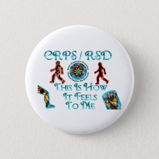 CRPS RSD  This Is How it Feels to Me 6 Cm Round Badge