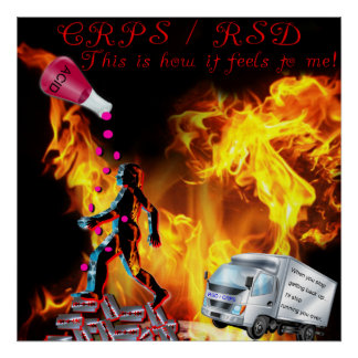 CRPS/RSD This Is How It Feels to Me Acid Print