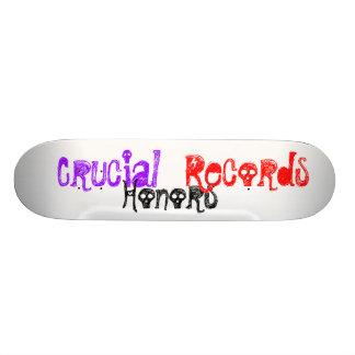 Crucial Honors Records Custom Skate Board
