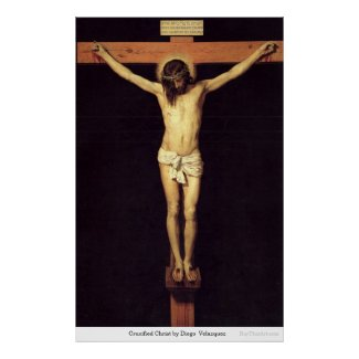 Crucified Christ by Velaquez Christian Poster