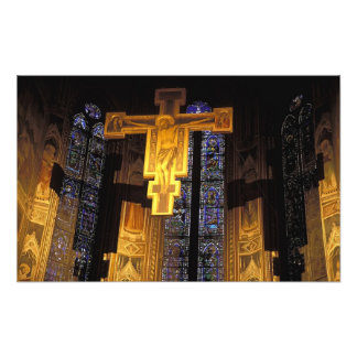Crucifix above the High altar in the Santa Art Photo