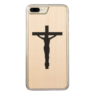 Crucifix Silhouette iPhone Carved iPhone 7 Plus Case