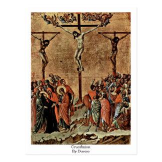 Crucifixion By Duccio Postcard