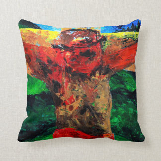 Crucifixion- it is finished 2009 throw pillow