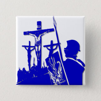 Crucifixion - Jesus on The Cross - Good Friday 15 Cm Square Badge