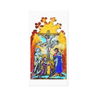 Crucifixion of Jesus Christ painting Canvas Print