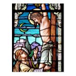 Crucifixion of Jesus - Stained glass window Postcard