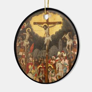 Crucifixion  Scene 1711 Ceramic Ornament