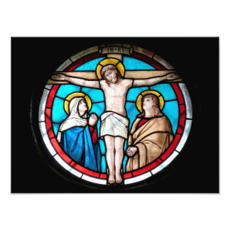 Crucifixion Stained Glass Window Photographic Print