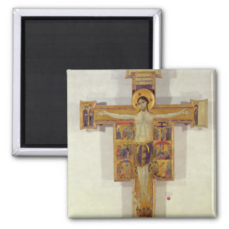 Crucifixion, Tuscan School, second half of 12th ce Square Magnet