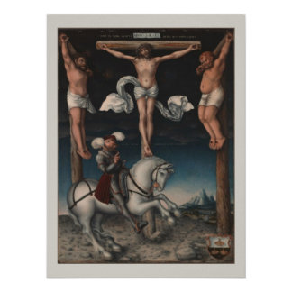 Crucifixion with Converted Centurion Poster