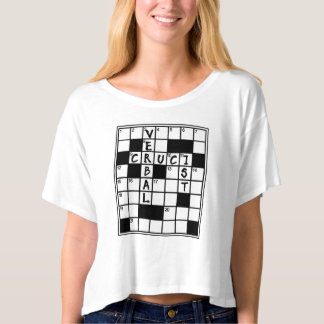 CRUCIVERBALIST Crossword Puzzle Lover T-Shirt