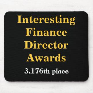 Cruel Finance Director Joke Spoof Awards Mouse Pad