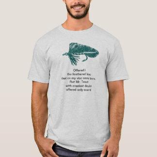 Cruel Trout shirt with green matuka streamer.