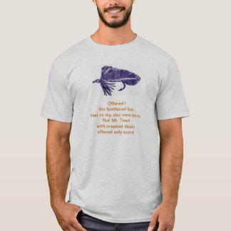 Cruel Trout shirt with purple matuka streamer.