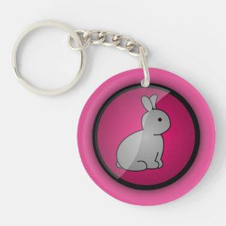 Cruelty-free Bunny Double-Sided Round Acrylic Key Ring