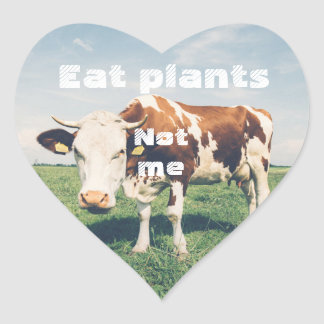 Cruelty free Heart sticker for vegan, vegetarian