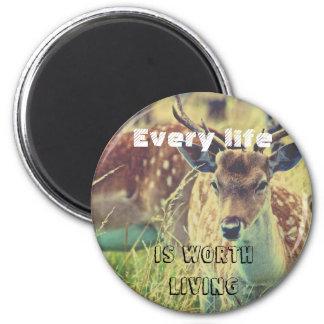 Cruelty free magnet with deer, vegan