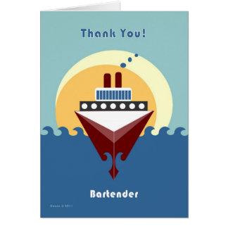 Cruise - Bartender - Thank you Card