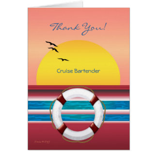 Cruise - Bartender - Thank you Tipping Card