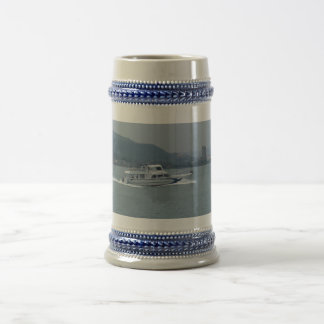 Cruise Boat on Tamsui River Gray /Blue 22 oz Stein