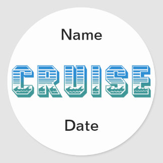 Cruise Classic Round Sticker