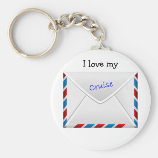 Cruise Envelope Basic Round Button Key Ring