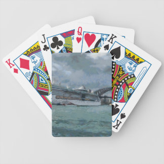 Cruise liner and sydney harbour bridge playing cards