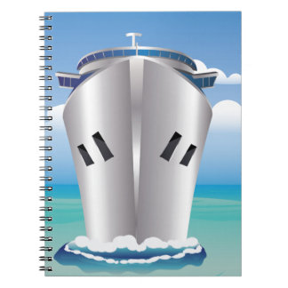 Cruise Liner in the Sea Spiral Note Book