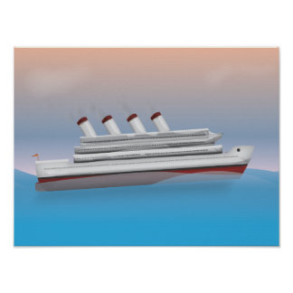 Cruise Liner Poster