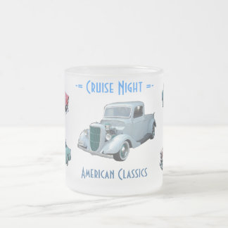 CRUISE NIGHT mug (frosted glass)