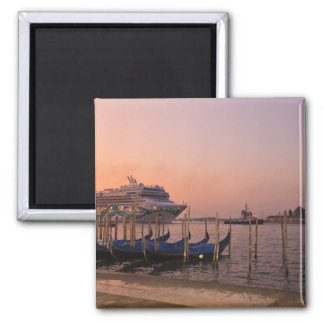 Cruise Ship and Gondolas near Grand Canal, Italy Magnet
