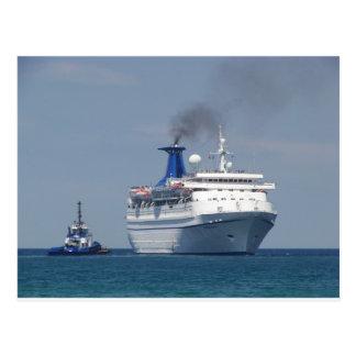 Cruise Ship Aquamarine Postcard