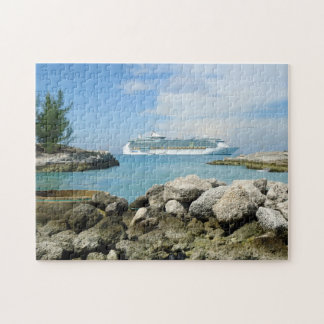 Cruise Ship at CocoCay Jigsaw Puzzle