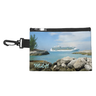 Cruise Ship at CocoCay Monogrammed Accessory Bags