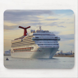 Cruise Ship at Twilight Mouse Pad