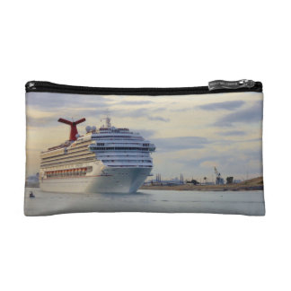 Cruise Ship at Twilight Travel Cosmetic Bags