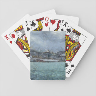 Cruise ship below Sydney harbour bridge Poker Cards
