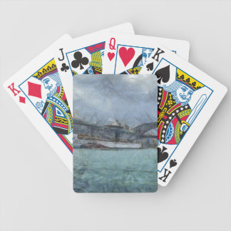 Cruise ship below Sydney harbour bridge Bicycle Poker Deck