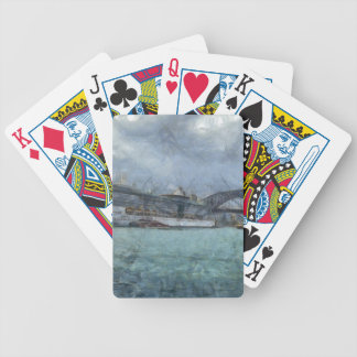 Cruise ship below Sydney Harbour Bridge Bicycle Poker Cards