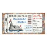 Cruise Ship Boarding Pass Personalized Photo Card