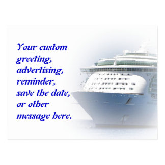 Cruise Ship Custom Postcard