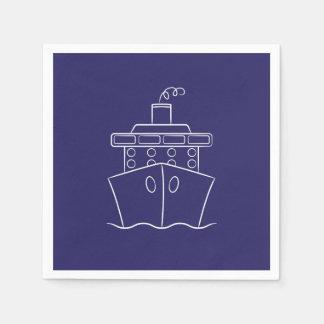 Cruise ship disposable napkins