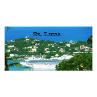 Cruise ship docked at St.Lucia Photo Greeting Card